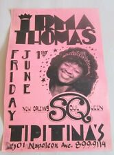 Irma Thomas New Orleans Soul Queen Tipitina's June 1 1984 Poster