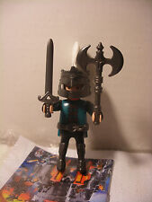 playmobil Chevalier Noir inedit Knigth edition speciale QUICK FRANCE Neuf