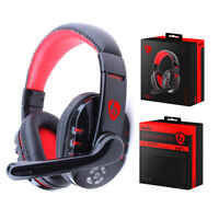 Pro Gaming Headset With Mic XBOX One Wireless PS4 Headphones Microphone UK