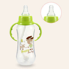 Hot 280ml Baby Bottle Milk Water Juice Feeding Cup Silicone Anti-Colic Teat Set