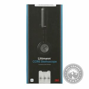 "OPEN BOX 3M Littmann CORE Digital Stethoscope in Black Chestpiece & Tube - 27"""
