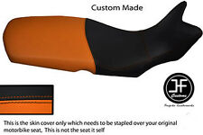 ORANGE AND BLACK VINYL CUSTOM FITS BMW F 650 GS 2008-2012 SEAT COVER ONLY