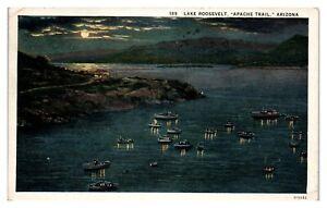 1935 Lake Roosevelt, Apache Trail, AZ Postcard *5N32