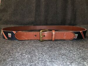 Polo Ralph Lauren CREST AND STRIPES Grosgrain Belt. 38/95