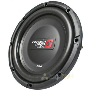 """Cerwin Vega 10"""" Shallow DVC Subwoofer Dual 2 Ohm 800 Watts Max HED Series HS102D"""