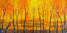 Tree's In Forest Petals Flower Landscape original Painting Australia By Jane