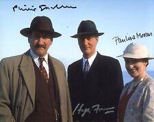 Agatha Christie's POIROT - CAST multi signed 8x10 photo
