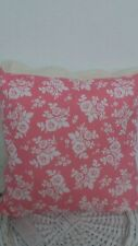 blanc rose rose coussin 45x45 blanc style maison de campagne ROSES