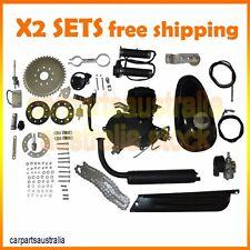 2x 80cc 2-Stroke Cycle Bike Gas Motor Kit Motorized Bicycle Bike Engine kit