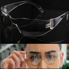 Work Safety Glasses Spectacles Goggles Clear Eye Protection Wrap Around Design