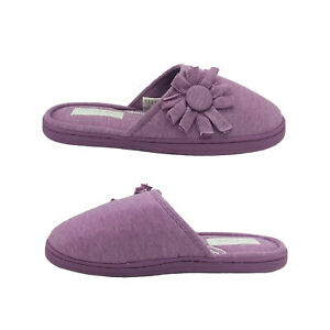 Ladies Slippers Grosby Invisible Support Slide Floral Mule Lilac Slipper 5-10