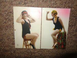 Vintage PC Paris glamour real photo x 32 postcards young lady BATHING SWIM SUIT