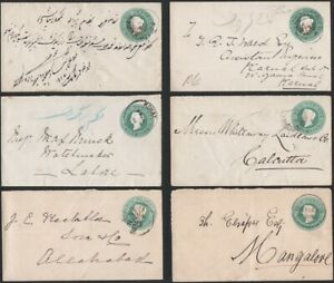 INDIA 1886-94. Covers H&G 4 (9), Domestic usages