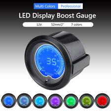 2'' 52mm Digital LED Turbo Boost PSI Gauge Car Meter w/ Sensor 7 Colors Setting