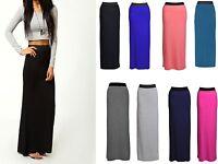 Ladies Women Gypsy Long Jersey Maxi Dress Skirt Ladies Skirt Size 8-14