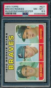1970 Topps Set Break # 621 Braves Rookies Evans Kester PSA 8.5 *OBGcards*
