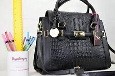 GENUINE LEATHER NEW Jane Shilton Designer Shoulderbag iPad BLACK - HALF PRICE
