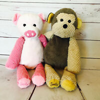 SCENTSY Buddy Retired Mollie Monkey & Penny Pig Stuffed Plush No Scent Packet