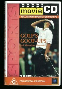 Golf's Goof-Ups Vintage Movie CD PC CD-Rom Windows 95 & 3.1 VGC