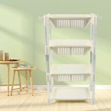 4 Tiers Kitchen Fruit Vegetable Storage Rack Shelf Basket Organizer Detachable
