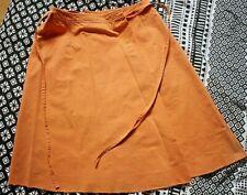 Jolie jupe portefeuille CACHAREL couleur clémentine 100% coton T 38/40 Exc état