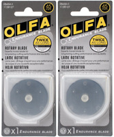 Olfa 45mm Endurance Rotary Blade for Replacement Refills- Lot of 2 - RB45H-1
