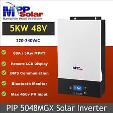 Inversor De Energía Solar (MGX) 5000w 48v 230vac Cargador solar de seguimiento de punto de potencia máxima 80A BMS Soporte