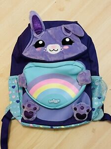 Smiggle Purple Soft Bunny Style Backpack / Bag