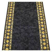 Hallway Runner Carpet Rug Charcoal 67cm Rubber Backed Cheops Per Metre Floor New