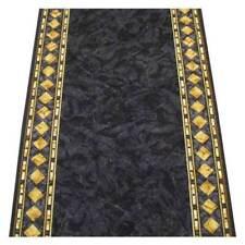 Hallway Runner Carpet Rug Charcoal 67cm Rubber Backed Cheops per Metre Floor