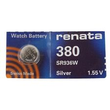 Renata Single Watch Battery Swiss Made Renata 380 or SR936SW 1.5V Fast Shipping