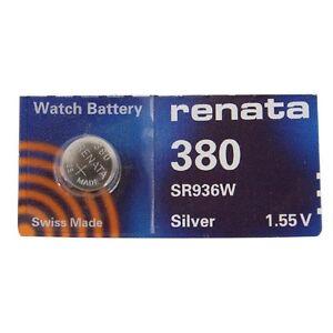 Renata Single Watch Battery Swiss Made Renata 380 or SR936SW 1.5V