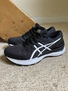 ASICS Gel Nimbus 22 Trainers/Shoes Black/White UK Sz. 7