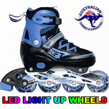 Kids Adjustable Roller Blades Inline Skates Light Up Rollerblade EU 31-34 US 1-3