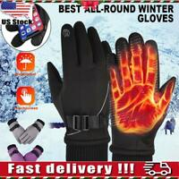 Men Women Winter Thermal Gloves Warm Snowmobile Ski Gloves Outdoor Sports Riding
