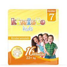 kiwisto KIDS Kinderwindeln Größe 7 - 22+ kg - 16 Windeln - bis ca. 8 Jahre