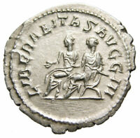 Philip II AR Antoninianus (247 AD), Philips I & II on curule chairs