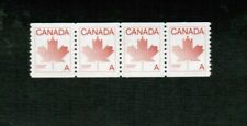 "CANADA 1981  ""A"" DEFINITIVE STRIP OF 4  see scan  cat $15.00 #908 MNH LOT 409"