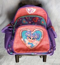 Abby Cadabby Sesame street 2008 rolling travel book bag