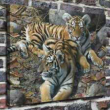 Animals tiger cubs Paintings HD Print on Canvas Home Decor Wall Art Pictures