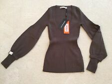 Rare New Karen Millen Stretch Knit Jumper Khaki/Mink Size 1