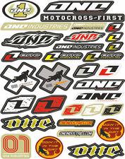 One Industries Sponsor Kit Logo Graphics Decals Stickers Sticker Sheet Vinyl