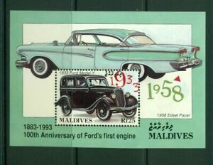 Maldive Islands  #1917 (1993 Ford Car sheet) VFMNH CV $6.00