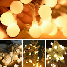 50 Fairy LED String Light Christmas Round Blub Lamp Party Xmas + Fernbedienung