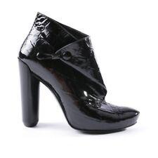 LV talon bottine botte cuir noir vernis chaussure -  taille 36/37