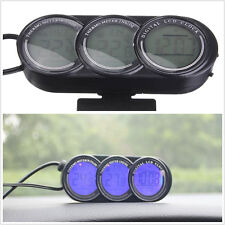 1 pcs Car Mini LCD LED Dual Thermometer Alarm Clock Illuminated Digital Display