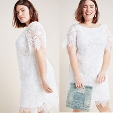 NWT Anthropologie 22 Charleston Ivory Lace Dress Romantic Wedding Beach Resort