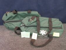2 EMT EMS MEDICAL BAGS EMERGENCY SHOULDER GEAR MEDICAL PARAMEDIC CARRY USED