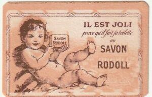 Ancienne carte parfumée SAVON RODOLL soap Parfum perfume