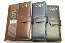 2021 QUALITY PADDED A5 OR A4 WEEK TO VIEW OR DAY A PAGE DIARY & PLANNER WITH PEN